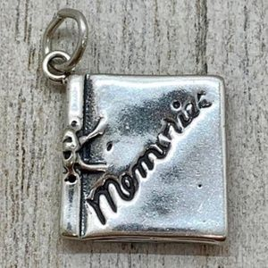 Scrapbook Sterling Silver Jewelry Charm